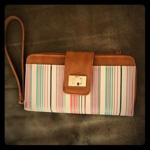 Lightweight striped wallet/wrislet